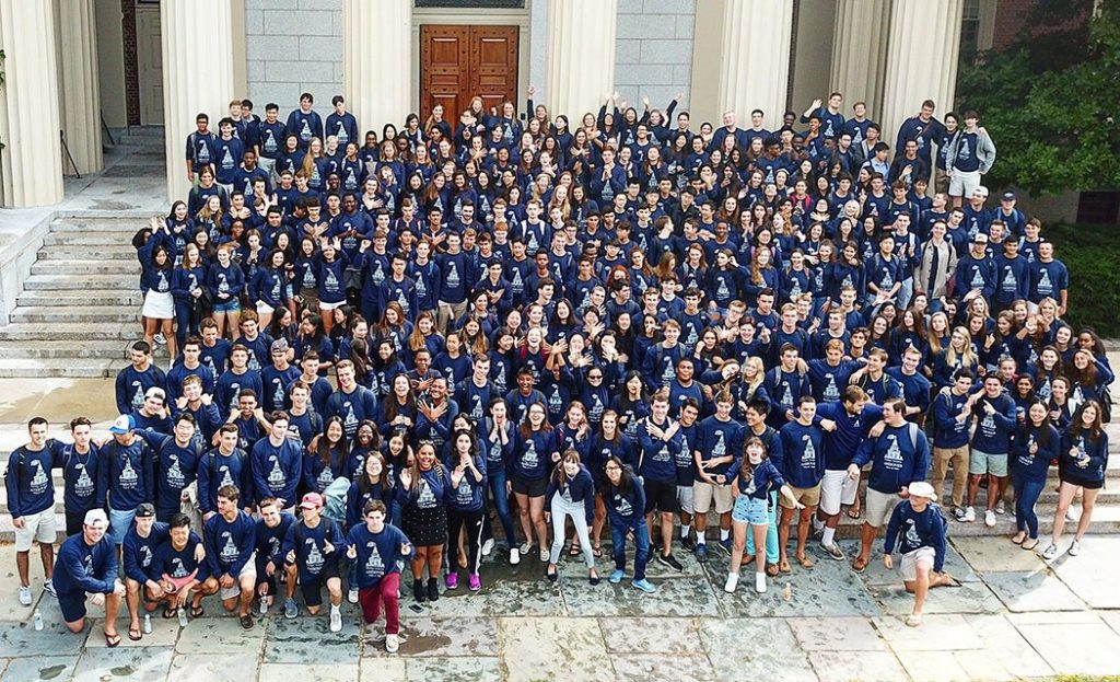Student body at Phillips Academy aka Andover